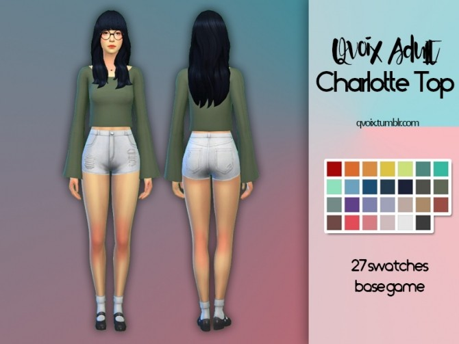 Sims 4 Charlotte Top at qvoix – escaping reality