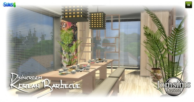 Korean barbecue dining room at Jomsims Creations image 808 670x355 Sims 4 Updates