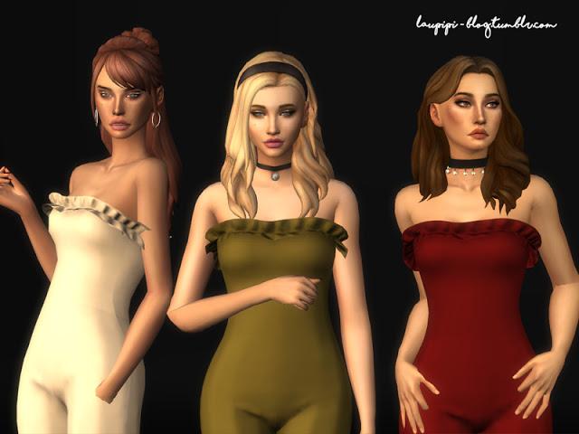 Sims 4 Soraya jumpsuit at Laupipi