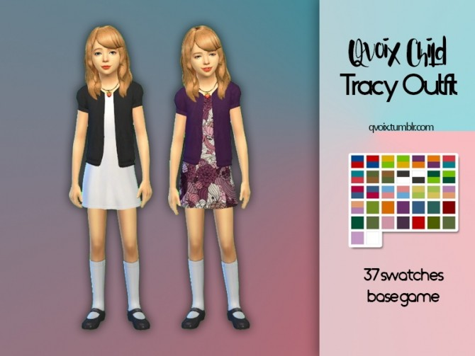 Sims 4 Child Tracy Outfit at qvoix – escaping reality