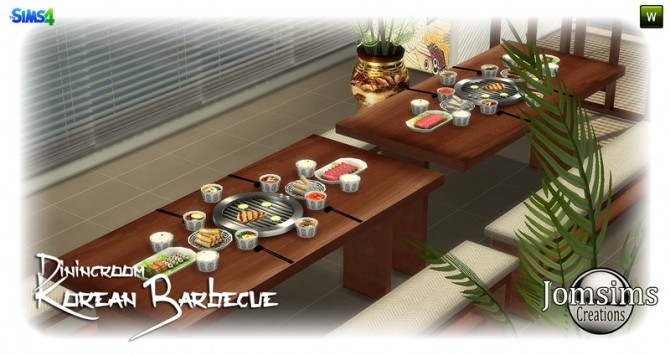 Korean barbecue dining room at Jomsims Creations image 8112 670x355 Sims 4 Updates