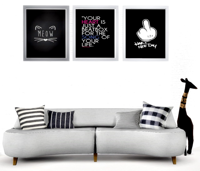 Sims 4 Art Wall Tumblr Pictures Black at Lily Sims