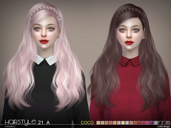 Hair CoCo n21A by S club at TSR image 8116 Sims 4 Updates