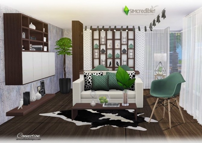 Connection dining room at SIMcredible! Designs 4 » Sims 4 ...