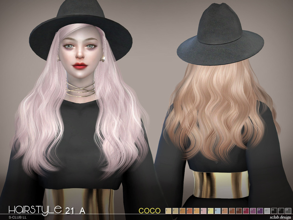 Hair CoCo n21A by S club at TSR image 8215 Sims 4 Updates