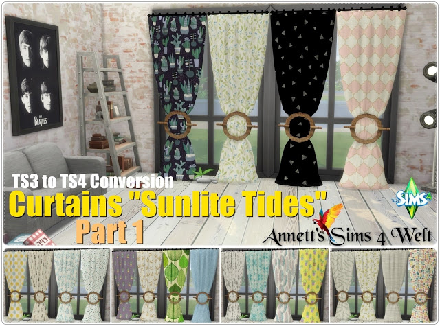 TS3 Curtains Sunlite Tides Part 1   Part 3 at Annett's Sims 4 Welt image 823 Sims 4 Updates