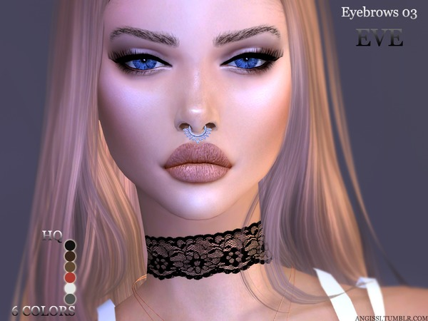 Eyebrows03 EVE by ANGISSI at TSR image 825 Sims 4 Updates