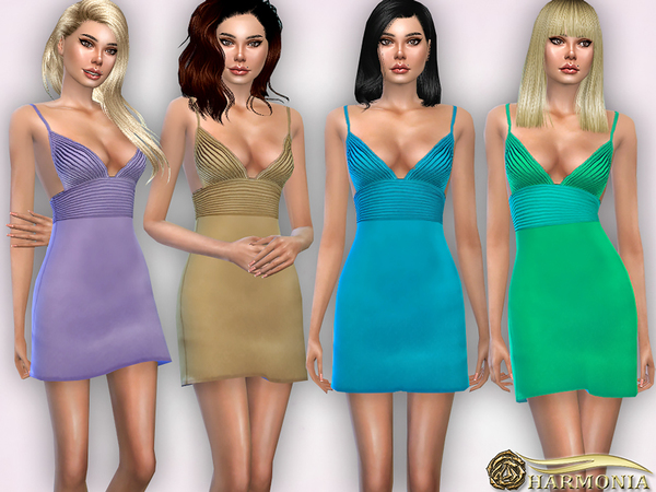 Stretch Silk Blend Satin Chemise by Harmonia at TSR image 829 Sims 4 Updates