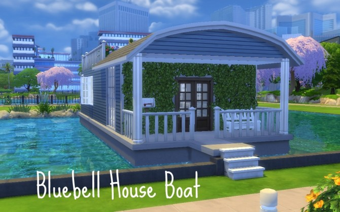 Sims 4 Bluebell House Boat by Innamode at Mod The Sims