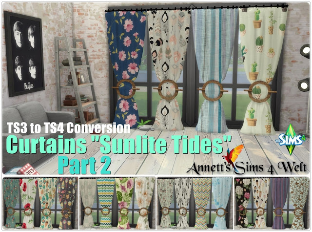 TS3 Curtains Sunlite Tides Part 1   Part 3 at Annett's Sims 4 Welt image 833 Sims 4 Updates
