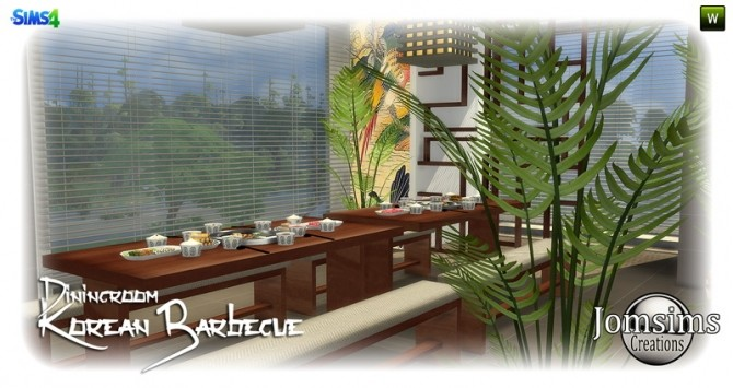 Korean barbecue dining room at Jomsims Creations image 837 670x355 Sims 4 Updates