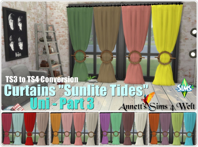 TS3 Curtains Sunlite Tides Part 1   Part 3 at Annett's Sims 4 Welt image 843 Sims 4 Updates