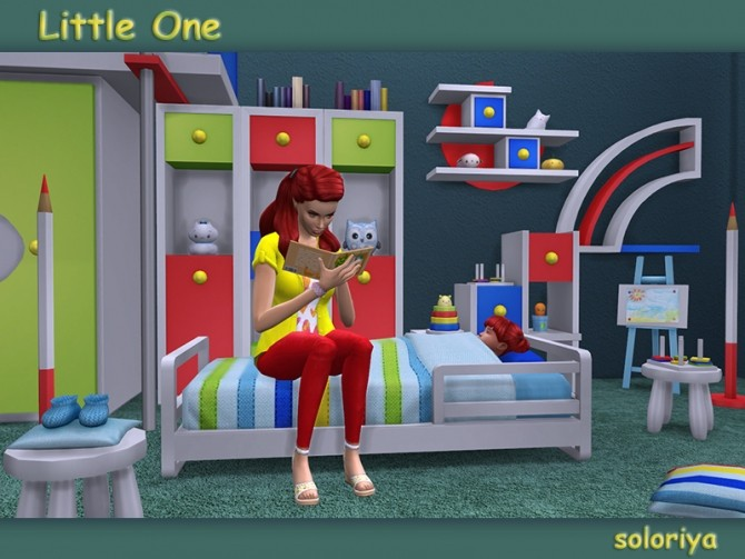 Sims 4 Little One bedroom at Soloriya