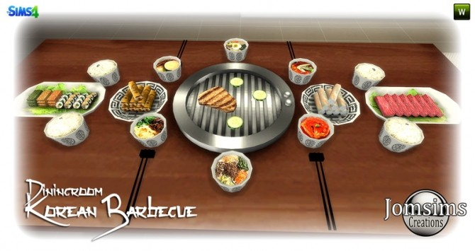 Korean barbecue dining room at Jomsims Creations image 848 670x355 Sims 4 Updates