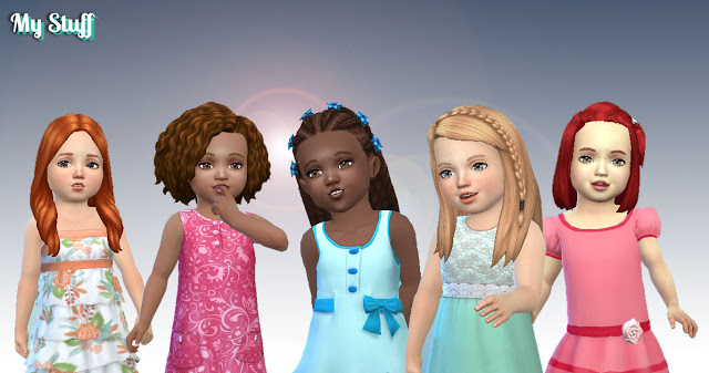 Sims 4 Toddlers Hair Pack 8 at My Stuff