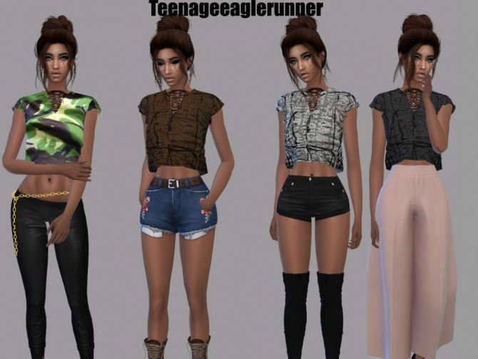 Bow Blouse Recolor at Teenageeaglerunner image 86 670x503 Sims 4 Updates