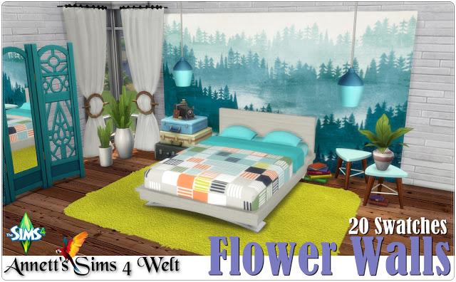 Sims 4 Flower Walls at Annett's Sims 4 Welt
