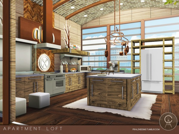 Apartment Loft by Pralinesims at TSR image 9 Sims 4 Updates