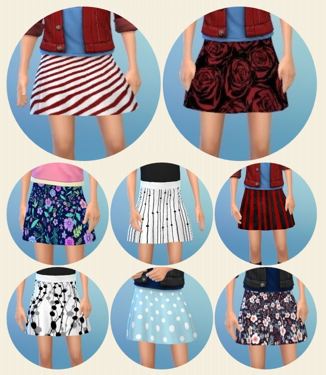 Sims 4 Girly's Every Moment Skirt at Birksches Sims Blog