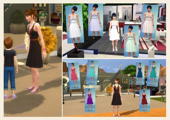 Sims 4 Summer Day Dress at Birksches Sims Blog