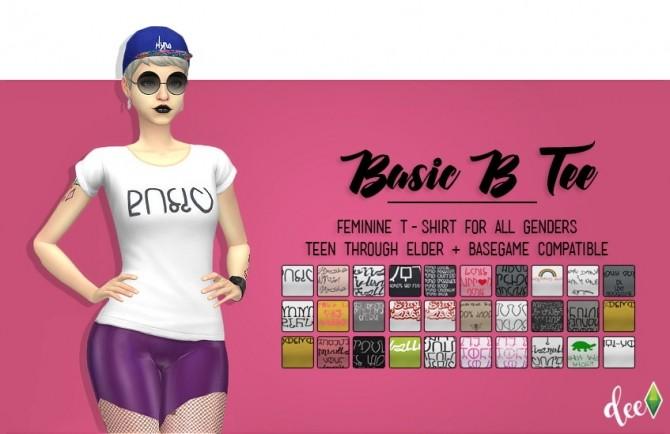 Basic B Tee at Deetron Sims image 9120 670x434 Sims 4 Updates