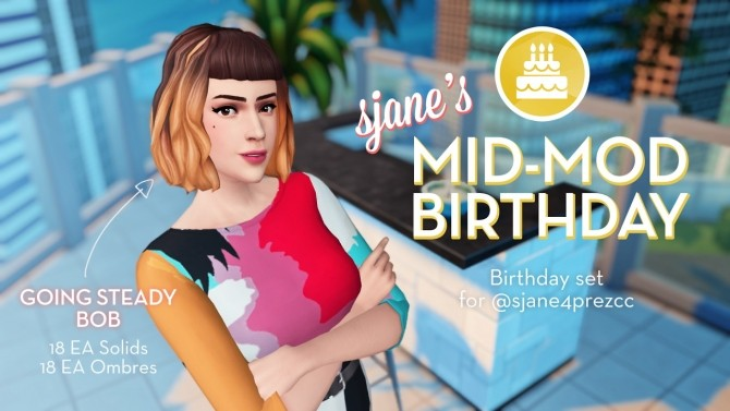 Sjane's Mid Mod Birthday Set at The Plumbob Tea Society image 9215 670x377 Sims 4 Updates