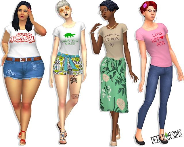 Basic B Tee at Deetron Sims image 9217 Sims 4 Updates