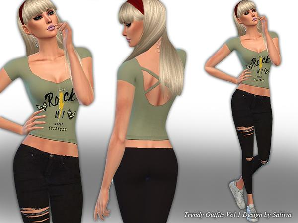 Sims 4 Trendy Outfits Vol 1 by Saliwa at TSR