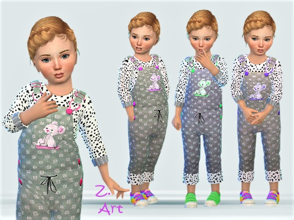 Sims 4 BabeZ 22 fashionable jumpsuit by Zuckerschnute20 at TSR