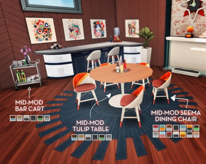 Sjane's Mid Mod Birthday Set at The Plumbob Tea Society image 9512 670x535 Sims 4 Updates