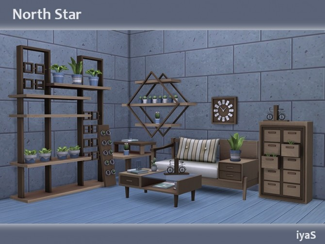 Sims 4 North Star living at Soloriya