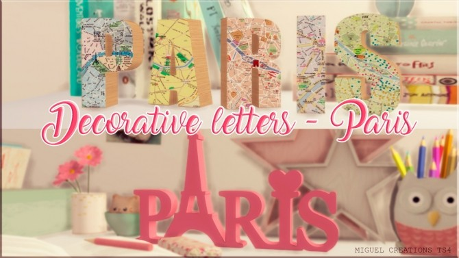 Decorative Letters Paris at Victor Miguel image 9610 670x377 Sims 4 Updates