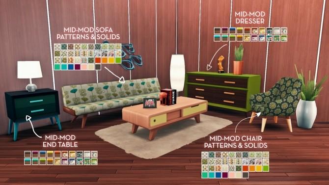 Sims 4 Sjane's Mid Mod Birthday Set at The Plumbob Tea Society