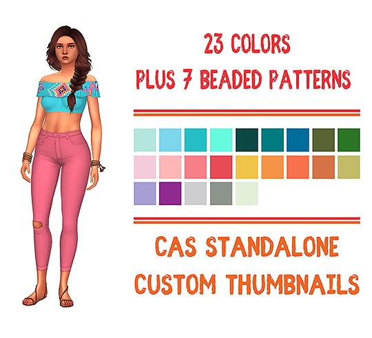 Urban Jungle Bikini Top Recolor by Sympxls at SimsWorkshop image 976 Sims 4 Updates