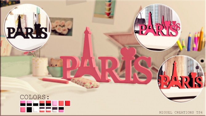Decorative Letters Paris at Victor Miguel image 9811 670x377 Sims 4 Updates