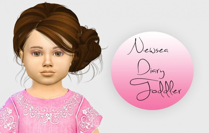 Sims 4 Newsea Diary Hair Toddler Version 3T4 at Simiracle