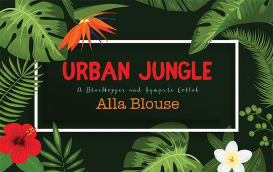 Sims 4 Urban Jungle Alla Blouse Recolor by Sympxls at SimsWorkshop