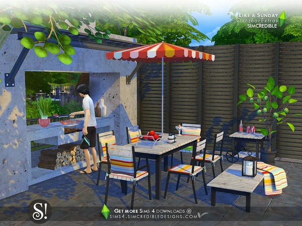 Like a Sunday decor by SIMcredible at TSR image 100 Sims 4 Updates