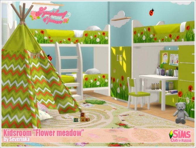 Flower meadow kidsroom at Sims by Severinka image 10011 670x505 Sims 4 Updates