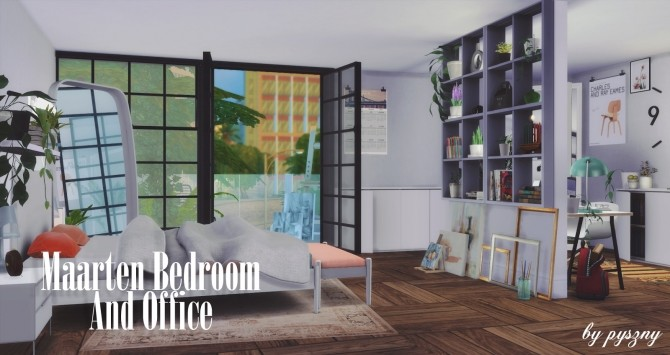 Maarten Bedroom & Office at Pyszny Design image 10012 670x355 Sims 4 Updates