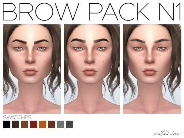 Brow Pack N1 by satanies at TSR image 1002 Sims 4 Updates