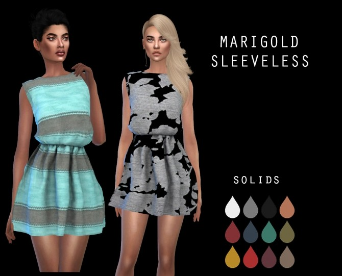 Marigold Sleeveless Dress at Leo Sims image 10117 670x541 Sims 4 Updates