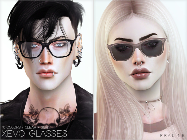 Sims 4 XEVO Glasses by Pralinesims at TSR