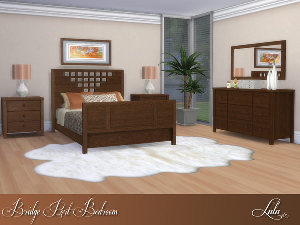 Bridge Port Bedroom by Lulu265 at TSR image 1015 Sims 4 Updates