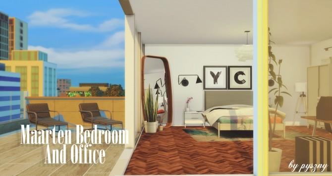 Maarten Bedroom & Office at Pyszny Design image 10214 670x355 Sims 4 Updates