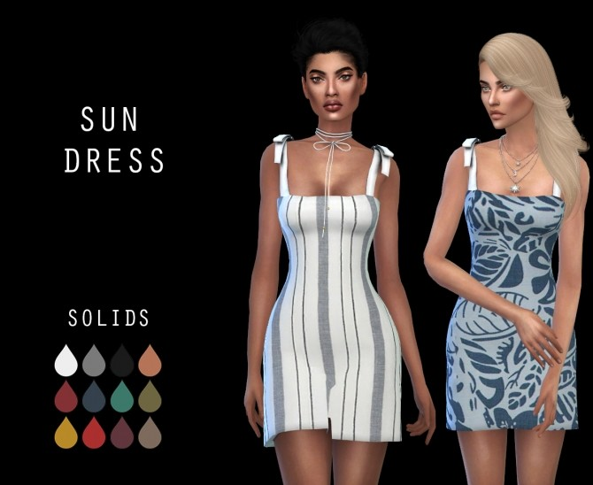 Sims 4 Sun Dress at Leo Sims