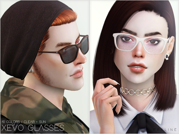 XEVO Glasses by Pralinesims at TSR image 10216 Sims 4 Updates