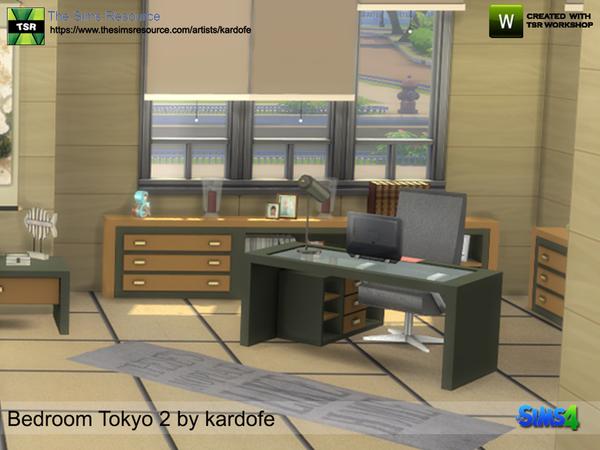 Bedroom Tokyo 2 by kardofe at TSR image 1026 Sims 4 Updates