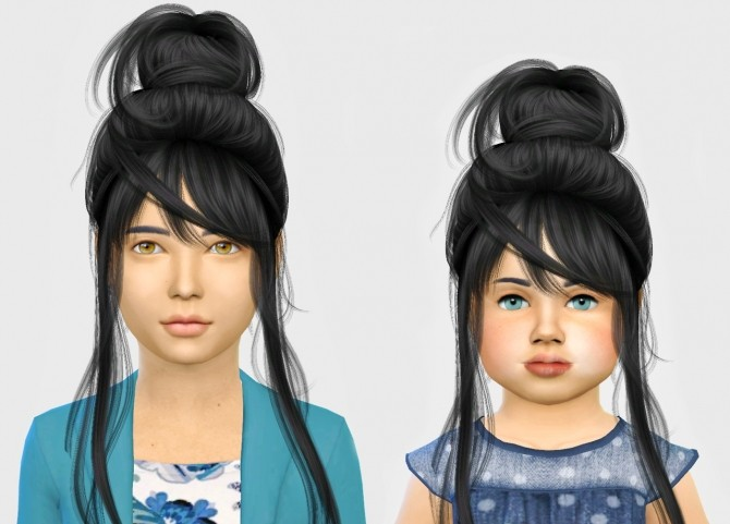 Sims 4 Wings os0713 hair Kids & Toddlers at Simiracle