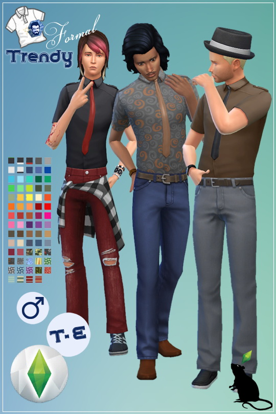 Sims 4 Formal Trendy shirt by Standardheld at SimsWorkshop